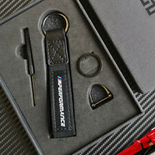 Carbon Fiber+Leather Embroidery Car Key Chain Key Ring for BMW AMG AUDI All Car