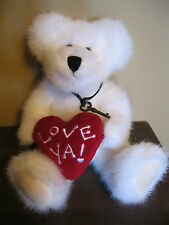 Boyd's Bear white plush IDO LOVEYA jointed with tags valentine heart EUC