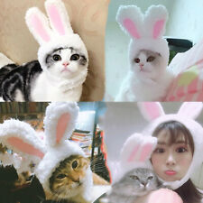 Pet Cats Dog Plush Rabbit Hat Bunny Ears Performance Props Cosplay Headdress