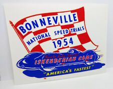 Bonneville 1954 Vintage Style Vinyl DECAL, Car STICKER, rat rod, hot rod, racing