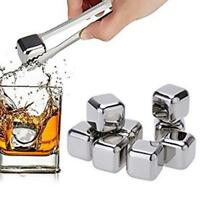 Stainless Stones Reusable Ice Cubes Drink Chillers Cooling Rocks Set LD