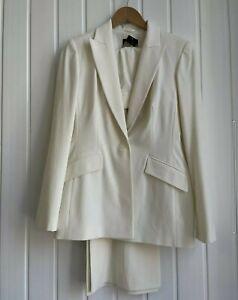 Womens Principles Ivory Trouser Suit Size 12R RRP 150