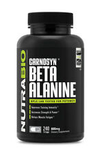 NutraBio Beta Alanine Carnosyn 800mg 240 Veggie Caps Endirance Recovery 120 srv