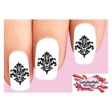 Waterslide Nail Decals Set of 20 - Damask Baroque Lace