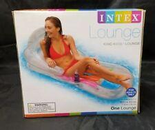 """New listing Swimming Pool Raft: Intex King Kool Lounge, 63""""x33.5"""", Back & Arm Rest, Nib,"""