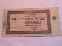 1923 Aschaffenburg Germany 1 Million Marks VF Original Inflationary Currency