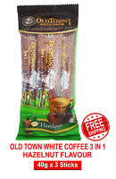 White Coffee Old Town 3 in 1 Instant Hazelnut Flavour 40g x 3 Stick Must Try