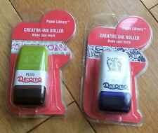 Plus Japan 2 x Deco Mini Roller Stamps - Christmas, Presents, Gifts Festive BNIP