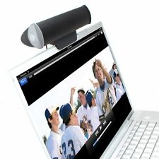 GOgroove Portable USB Speaker Sound Bar with Clip-On Mount for Laptops