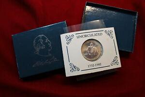 UNITED STATES MINT GEORGE WASHINGTON SILVER COMMEMORATIVE HALF-DOLLAR COIN