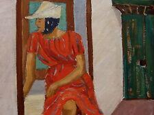 R.D.-StrÖm, Giovane Donna am Finestra, Olio su piastra, a 1950/60