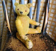 """RARE early Hump Back 16"""" American Teddy Bear C1910 idéal? mohair entièrement articulé"""