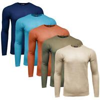 EX Zara Mens Crew Neck Long Sleeve Sweater Knitted Winter Pullover Jumper Top