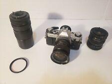 Canon AE-1 35mm SLR Camera & Extra Lenses