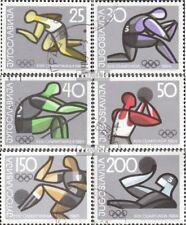 Yougoslavie 1076-1081 (édition complète) neuf 1964 olympe. Été, Tokyo ´64