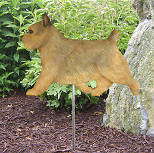 Norwich Terrier Outdoor Garden Dog Sign Hand Painted Figure Grizzle