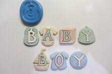 Baby boy silicone moules sugarcraft, fimo, nourriture, gâteau décoration cupcakes