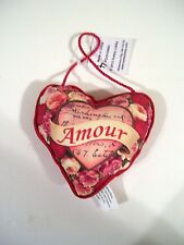 AMOUR HEART & FLOWERS VALENTINE ORNAMENT GIFT WEDDINGS DECORATION