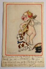 CPA. Illustrateur MAUZAN. GAP. CUPIDON. 1919. Musicien. Chien. N°69. 222-2.