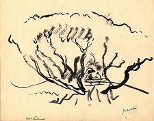 PASCIN: dessins encre-crayon/Vincennes 1907/Confidences/certif. d'authenticité/
