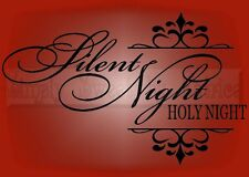 SILENT NIGHT Christmas Vinyl Wall Saying Lettering Quote Decor Decal Sign Craft