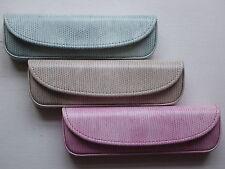 Gorgeous 'ELITE TEXTURED' 1/2 Eye Glasses Case -  Blue, Pink or Beige - NEW