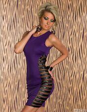 *♥*Sexy Cocktail-Kleid Business  Spitzen Abend-Kleid Größe Party 34 Lila