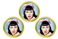 Bettie Pages Marqueurs de Balles de Golf