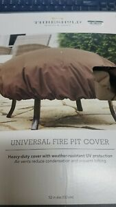 Threshold Universal Fire Pit Cover 52 Inches Heavy-duty Weather Resistant
