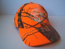 Little John Conservation Club Hat Orange Camo Strapback Baseball Cap