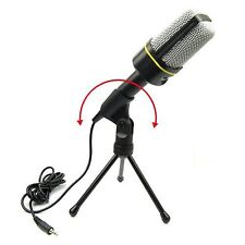 Microphone Audio Recording Desktop 3.5mm Stereo Condenser & Mic Mount Stand