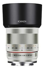 Rokinon RK50M-E 50mm F1.2 AS UMC High Speed Lens for Sony E Mount, Silver