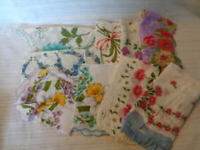 VINTAGE LOT OF 9 LADIES  HANDKERCHIEF / HANKY