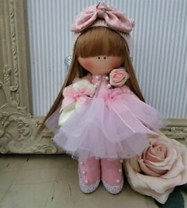 Fairy Rag doll UK made Tilda doll Ooak doll Art doll FAYETTE 8 inch tall