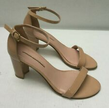 Stuart Weitzman NearlynudePatent Leather  Ankle Strap Sandals Size 9.5 M