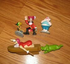 4 Disney PETER PAN CAPTAIN HOOK  toy CAKE TOPPER figures lot