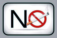 NO SMOKING WHITE Letrero de metal Placa signo Arqueado CARTEL LATA 20 x 30cm