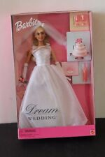 DREAM WEDDING BARBIE  WITH CAKE AND CHAMPAGNE  NEW  MIB   NRFB  2000 MATTEL