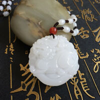 China 100% natural Nephrite hetian jade handcarved LUCKY PIXIU pendant+Necklace