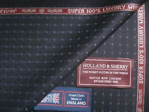HOLLAND & SHERRY 100% SUPER 100's LUXURY WOOL SUITING FABRIC *Snowy river*-3.4 m