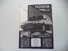advertising Pubblicità 1984 TOYOTA TERCEL 4X4 4WD