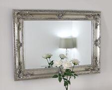 """Delamere Silver Ornate Rectangle Wall Mirror 40"""" x 30"""" (100cm x 76cm)"""