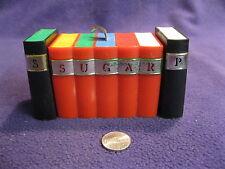 Vintage Plastic Books Salt and Pepper Shakers Covered Sugar Bowl Davis        80