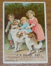 Antique Advertising Trade Card - J.Y. Sigafus - Stroudsburg PA -Household Sewing