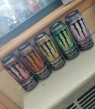Monster Energy Rehab R+R+R 2013 design Set of 5 - Full, Sealed 15.5 oz Cans RARE