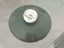 ANCIEN ABAT JOUR SUSPENSION USINE en  TÔLE EMAILLEE VERTE 24 cm diamètre