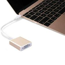 """USB 3.1 Type C USB-C to VGA Adapter Reversible for New Macbook 12"""" to Projector"""