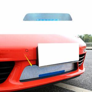 For Porsche 718 2016-2021 Blue Titanium Front Bumper Center Hood Grill Mesh 1PCS