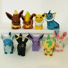 9pcs Eevee Evolution Pokemon Nintendo Bandai Toy Figures Set Sylveon Umbreon e