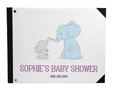 Darling Souvenir White Elephant Personalized Printed Baby-ud2